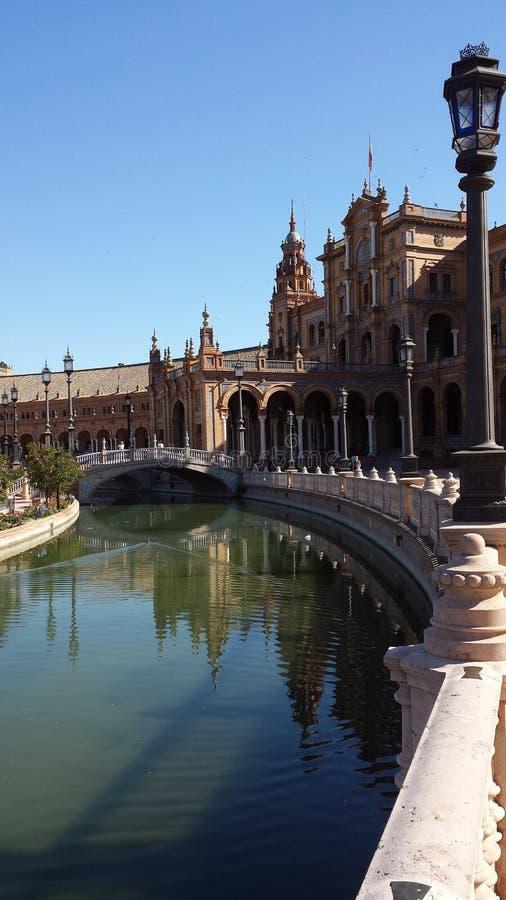 Plaza DE Espana in Sevilla, Spanje stock fotografie