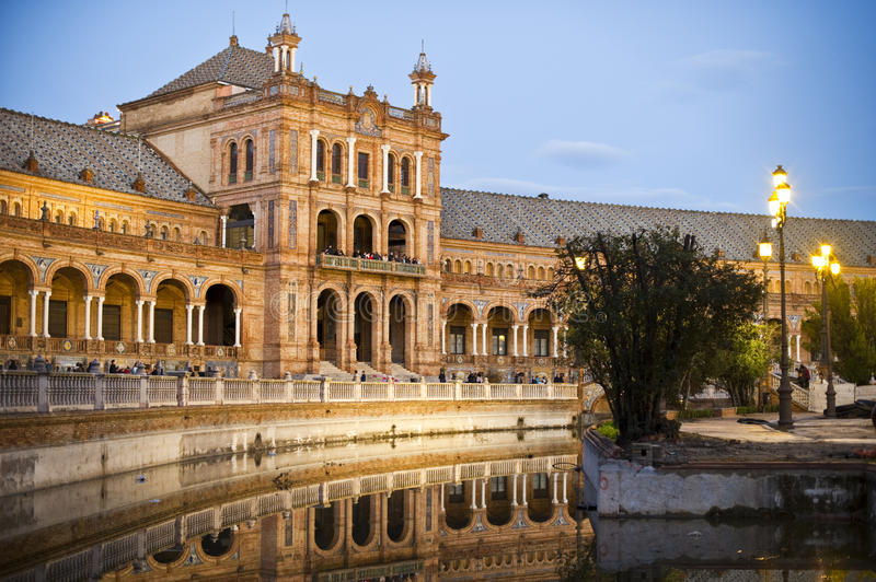 Plaza De Espana Seville Stock Photos