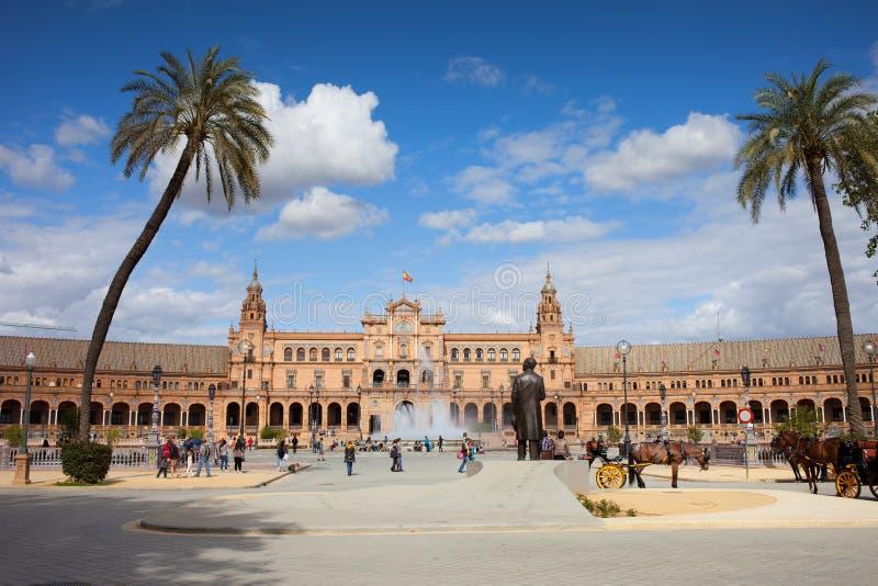 Plaza De Espana In Seville Editorial Photo