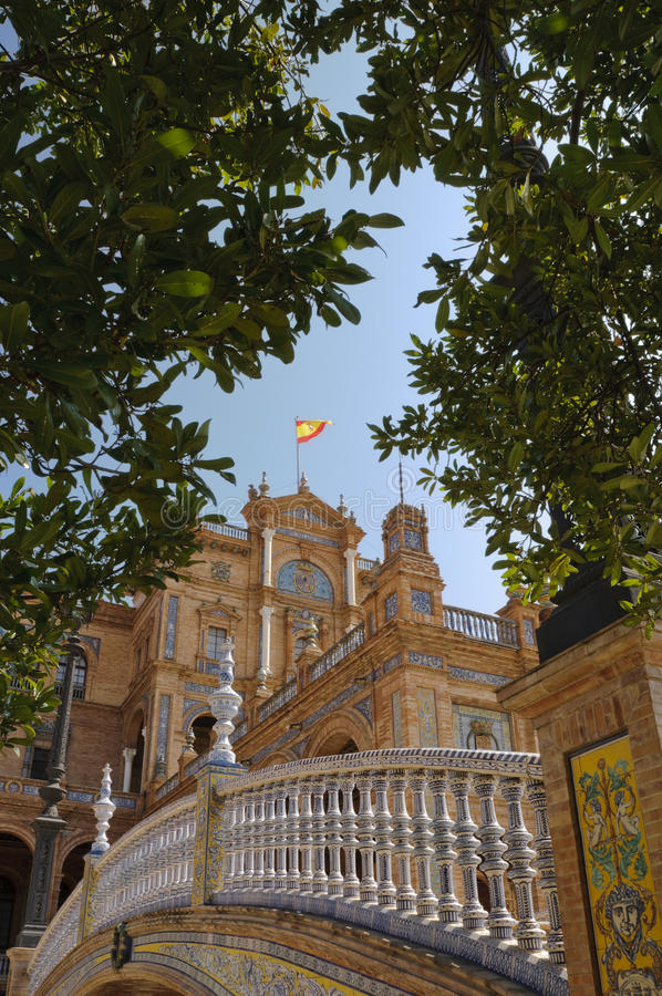 Plaza de Espana in Seville, Spain royalty free stock photos