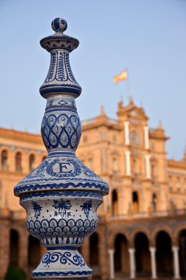Plaza de Espana, Seville - Spain stock photography