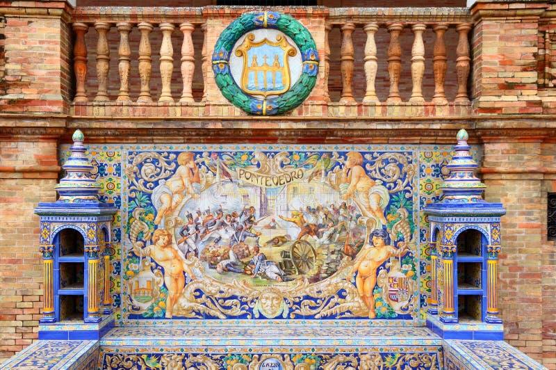 Plaza De Espana, Siviglia fotografia stock libera da diritti