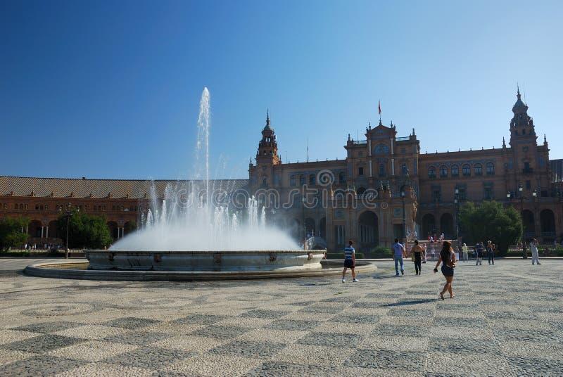 Plaza de Espana in Siviglia immagini stock