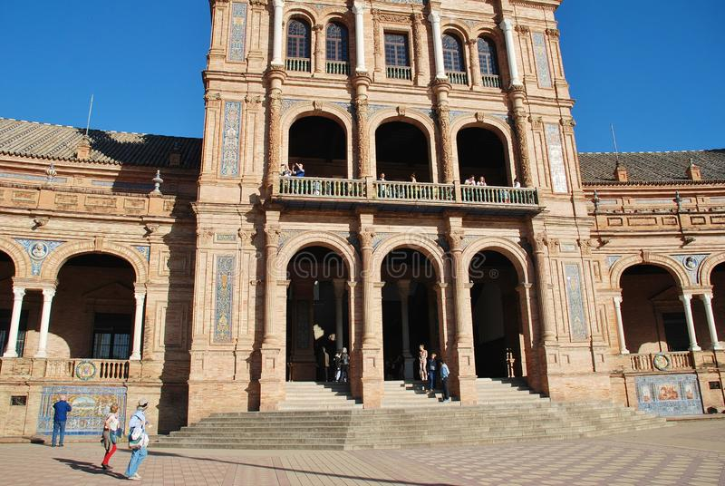 Plaza de Espana in Siviglia immagini stock libere da diritti