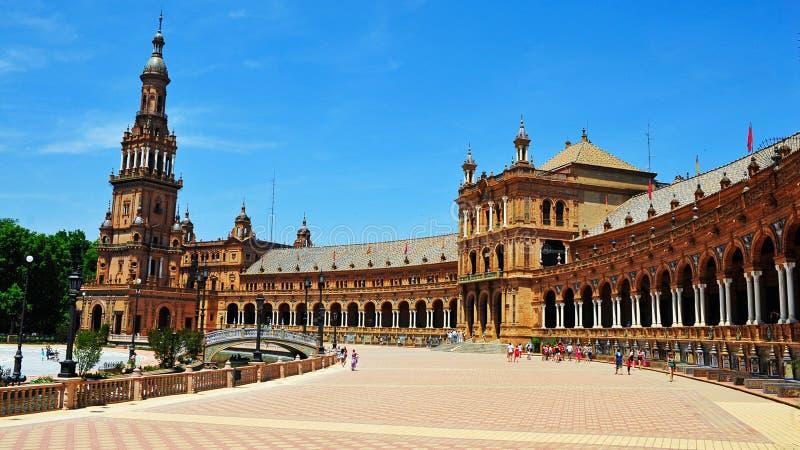 Plaza de Espana, Siviglia, Spagna immagine stock