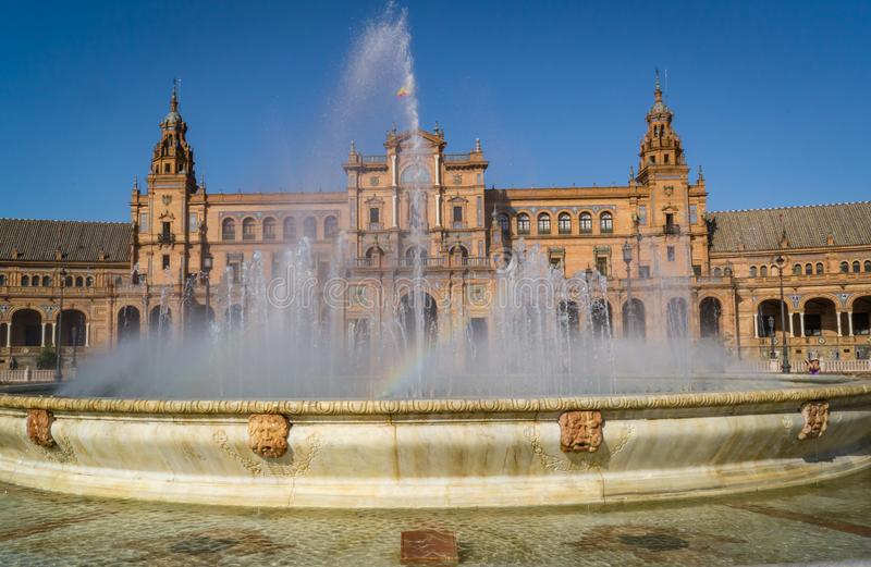 Plaza DE Espana Spanje vierkant in Sevilla stock fotografie