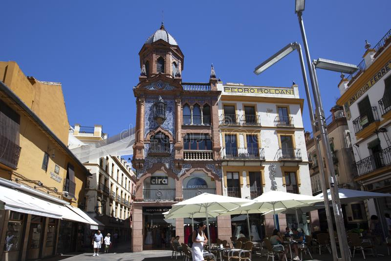 Plaza de Jesus de la Pasion, Siviglia, Spagna, 2013 immagini stock libere da diritti