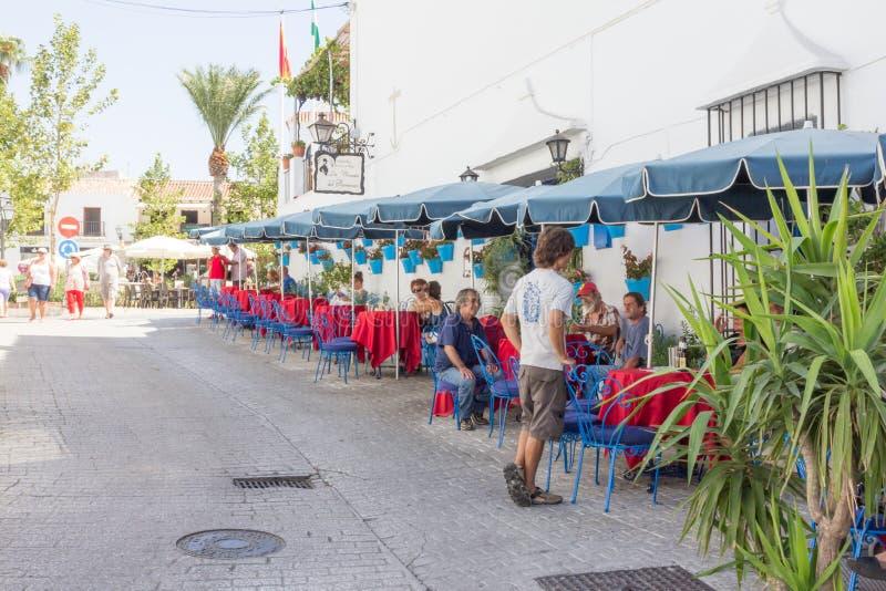 Plaza de la默塞德,马拉加 免版税库存照片