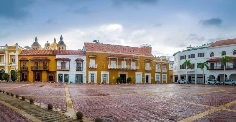Plaza de la Aduana - Cartagena de Indias, Colombia royalty free stock photography