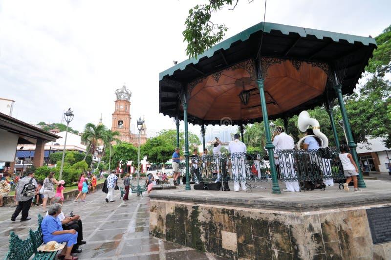 Plaza de la cañería de Puerto Vallarta fotos de archivo libres de regalías