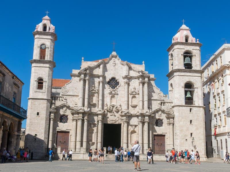 Plaza de la Catedral English: Kathedralen-Quadrat ist eins des f lizenzfreie stockfotos