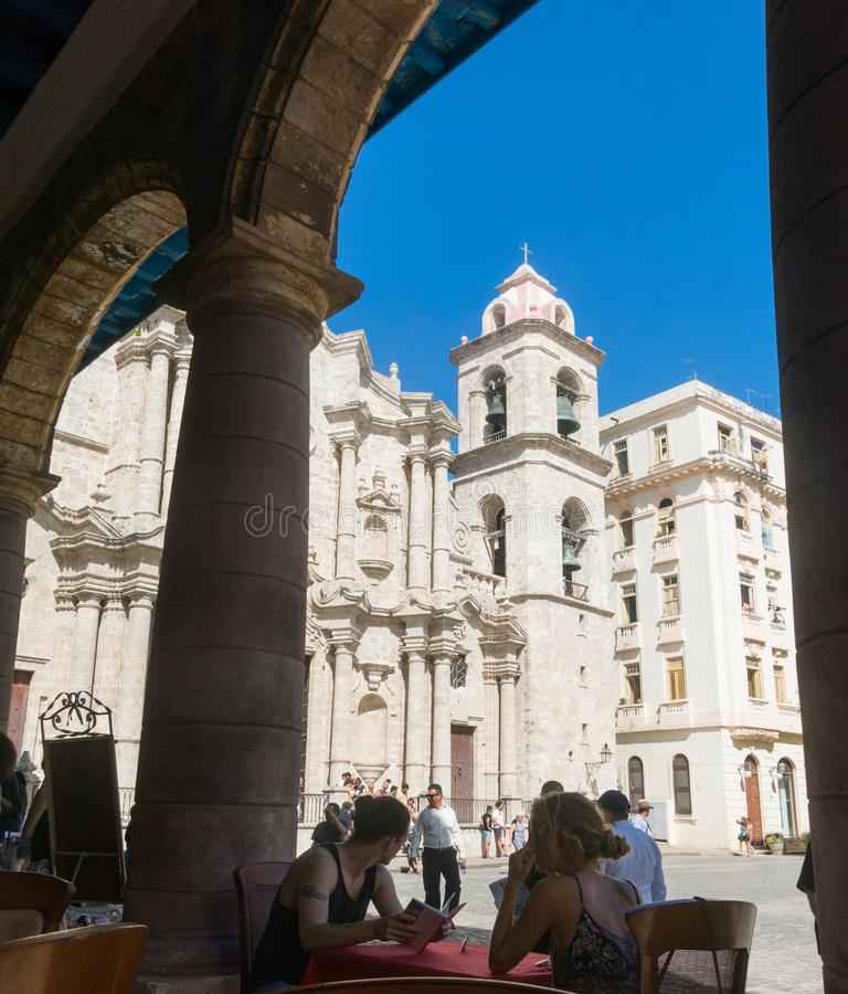 Plaza de la Catedral English: Kathedralen-Quadrat ist eins des f stockfoto