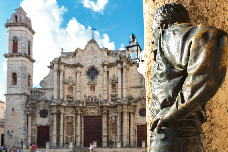 Plaza de la catedral in La Habana royalty free stock photography