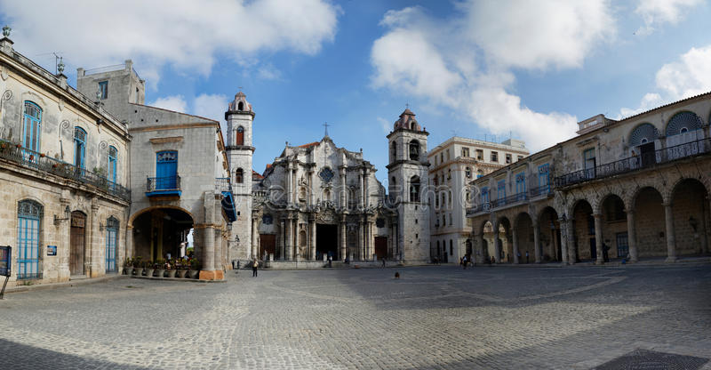 Plaza De La Catedral La Havane, Cuba images libres de droits