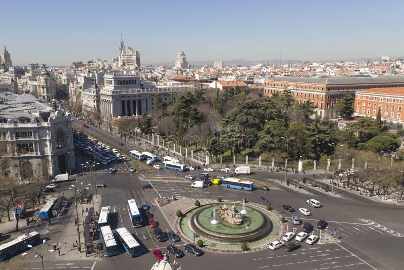 Plaza de la Cibeles (le grand dos de Cybele) photo stock