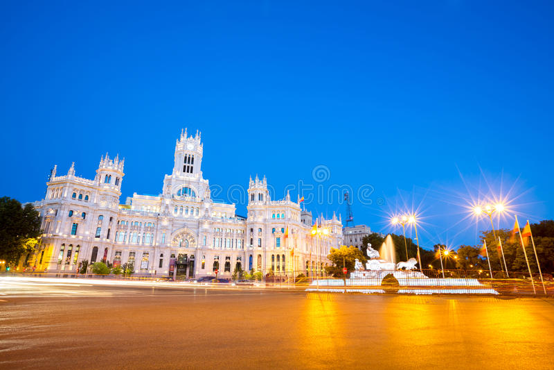 Plaza de la Cibeles Madri imagens de stock royalty free