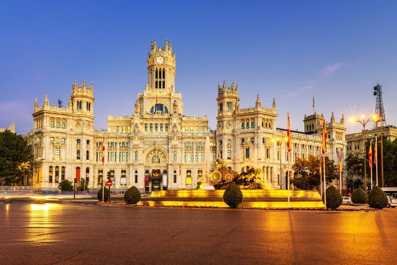 Plaza de la Cibeles Madrid stock photo