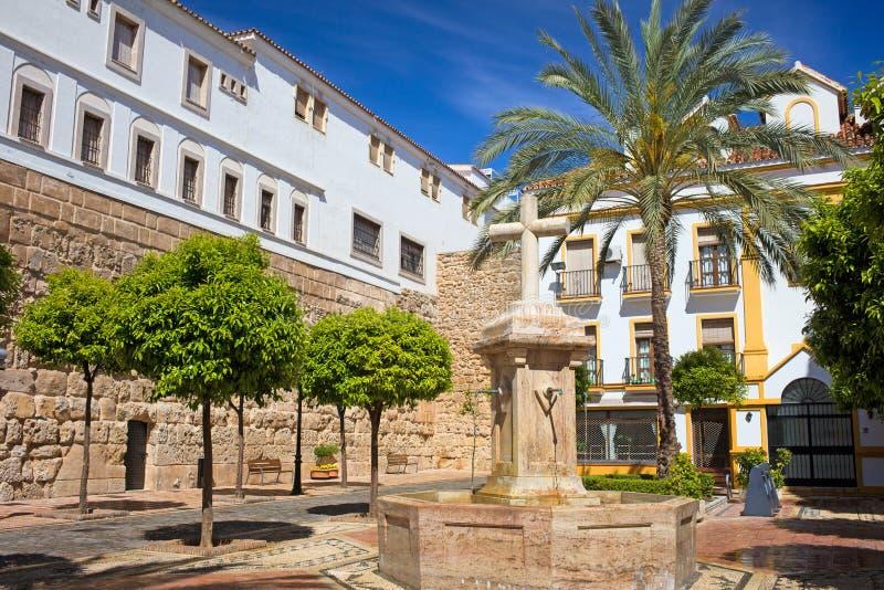 Plaza de la Iglesia em Marbella fotos de stock