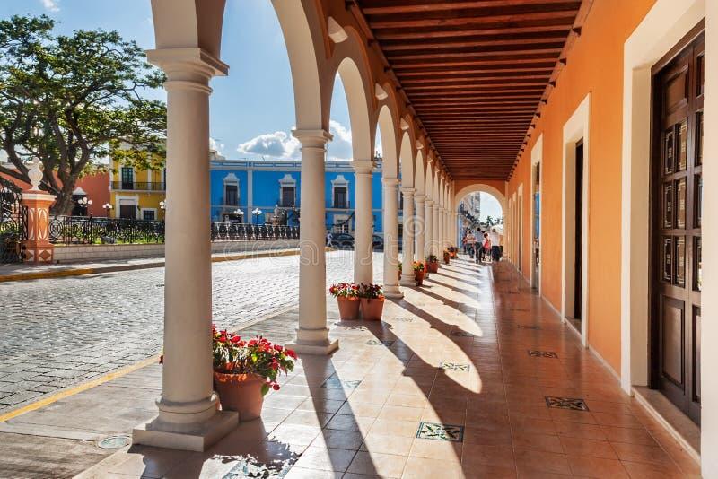 Plaza de la Independencia, Campeche fotografía de archivo libre de regalías