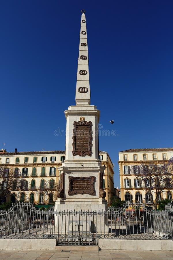 Plaza de la Mercaded, Histiric-Gebäude, Màlaga, Spanien stockbild