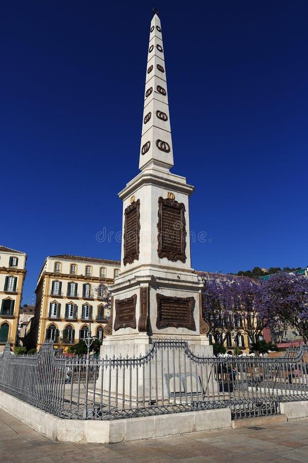 Plaza de la Mercaded, Histiric-Gebäude, Màlaga, Spanien lizenzfreies stockbild