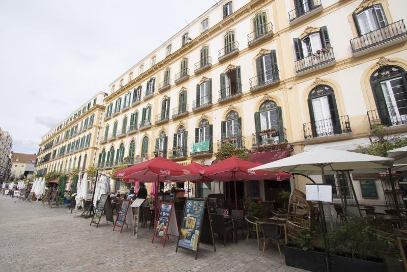 Plaza de la Merced, Malaga, Spagna fotografie stock libere da diritti