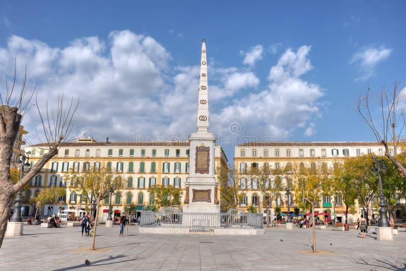 Plaza de la Merced,Malaga,Spain stock photography