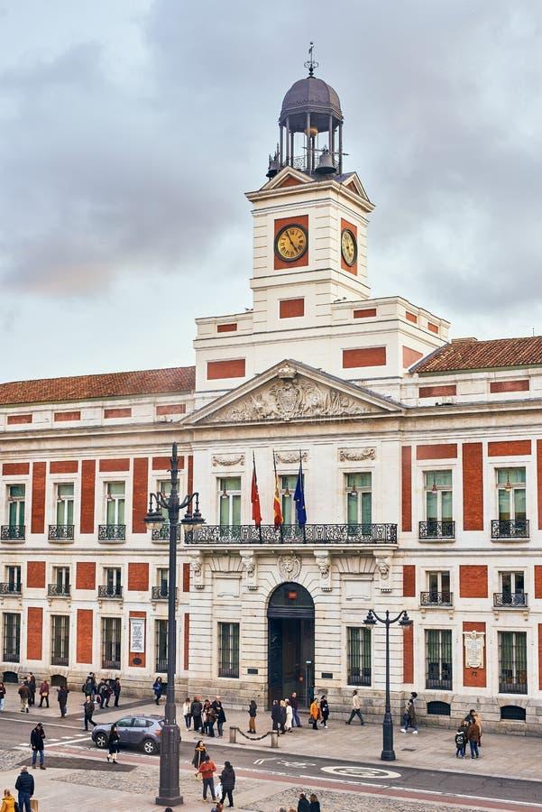 Plaza de la Puerta del Sol en Madrid foto de archivo