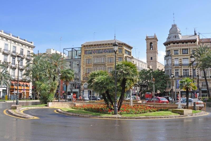 Plaza de la Reina à Valence photo stock