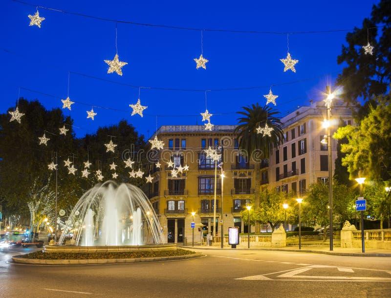 Plaza de la Reina en Mallorca imágenes de archivo libres de regalías