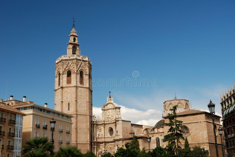 Plaza de la Reina a Valencia immagine stock libera da diritti