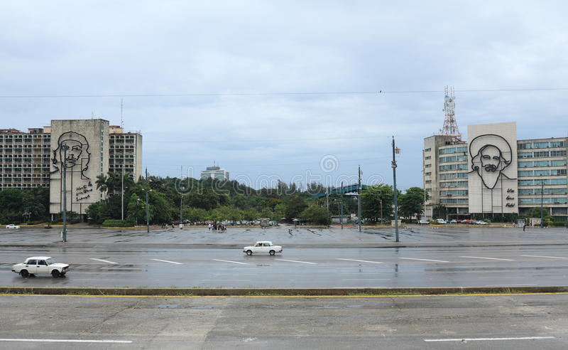Plaza de la Revolucion/革命正方形,哈瓦那,古巴 库存图片