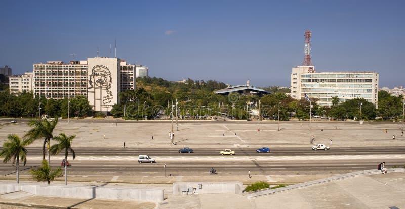 Plaza DE La Revolucion, Havana, Cuba stock afbeeldingen