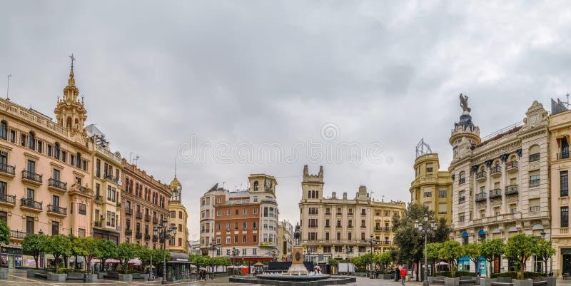 Plaza de las Tendillas, Cordoba, Spanien royaltyfri foto