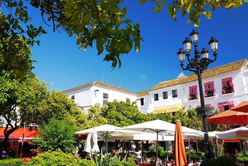 Plaza de los Naranjos imagen de archivo