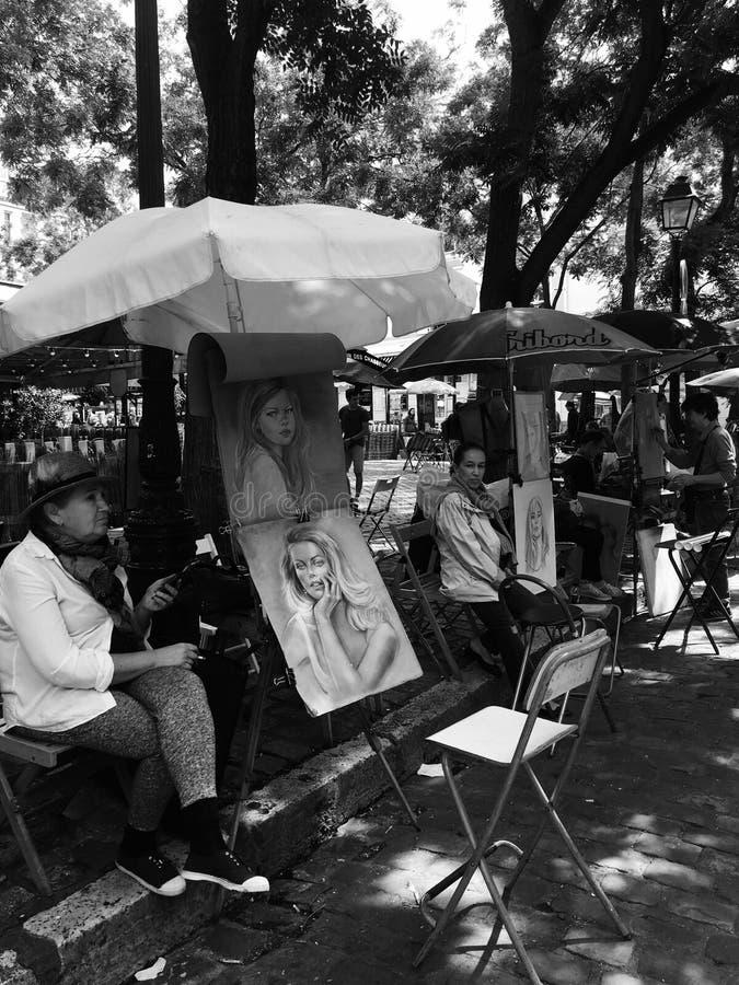 Plaza de los pintores foto de stock