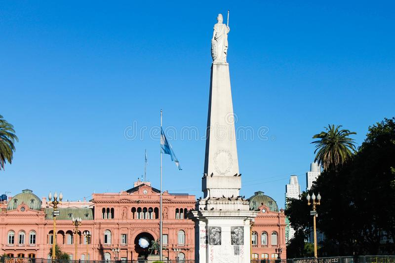 Plaza de Mayo Buenos Aires. Building Perspective Architecture Stone Scene Tourism Europe Structure Stone Construction stock photo
