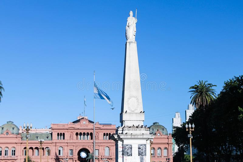 Plaza de Mayo Buenos Aires. Architecture Surface Detail Outside Independence Travel Destination Federal stock photo