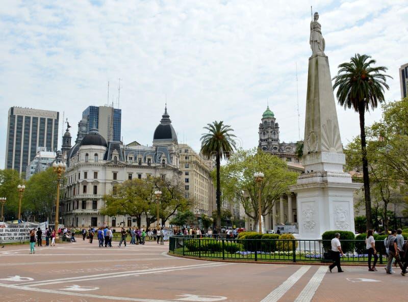 Plaza de Mayo. Buenos Aires, Argentina royalty free stock photography