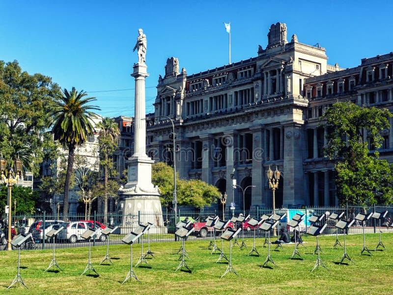 Plaza de Mayo in Buenos Aires, Argentina. Pirámide de Mayo / May Pyramid on the Plaza de Mayo in Buenos Aires, Argentina royalty free stock photography