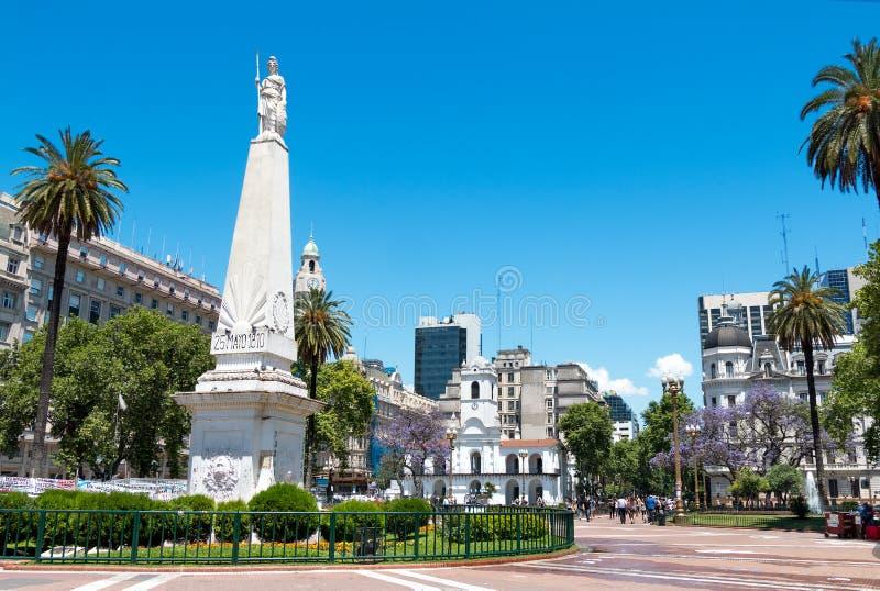 Plaza de Mayo, Buenos Aires Argentinien. Monument to the May Square (plaza de mayo), Buenos Aires Argentina stock image