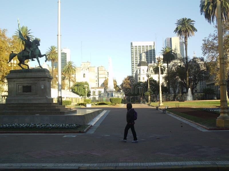 Plaza de Mayo Buenos Aires, huvudstad royaltyfri fotografi