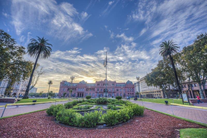Plaza de Mayo i Buenos Aires, Argentina. arkivbilder