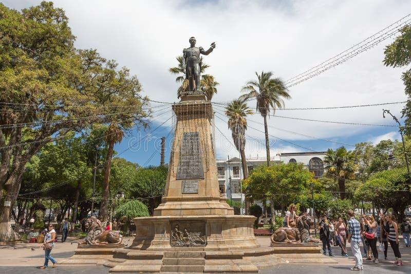Plaza 25 de Mayo, Sucre, Bolivia royaltyfri bild