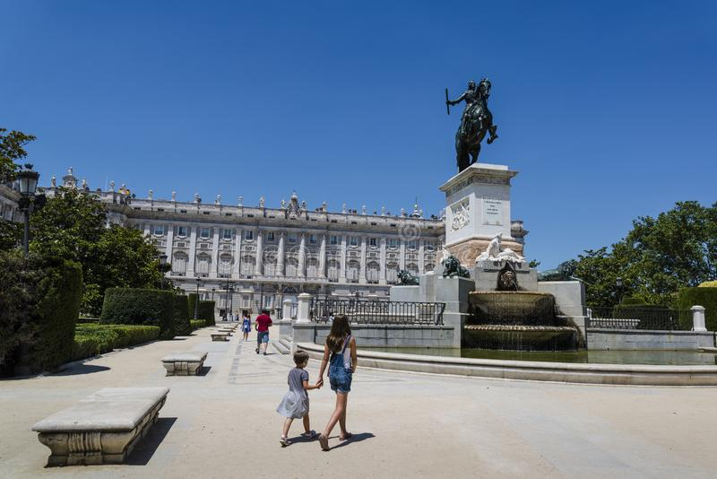 plaza de Oriente,马德里,西班牙 免版税库存照片