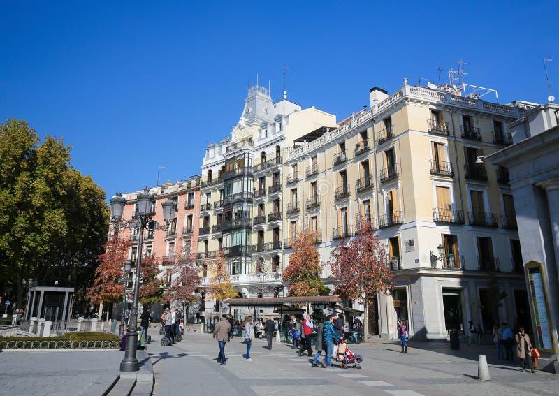 Plaza de Oriente在马德里,西班牙 免版税库存照片