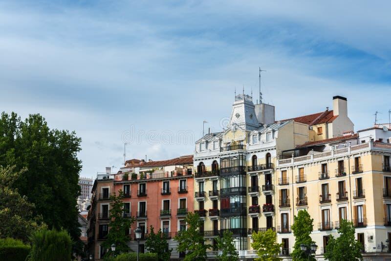 Plaza de Oriente在马德里 图库摄影