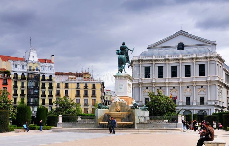 plaza de Oriente,马德里 免版税图库摄影