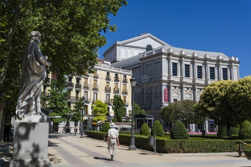 Plaza de Oriente, Madrid, España fotografía de archivo