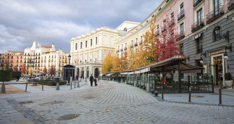 Plaza de Oriente, Madrid, Spagna fotografie stock libere da diritti